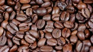 Coffee grains in rotation Stock Footage