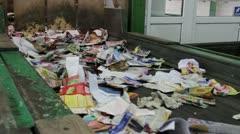 Wastepaper at conveyor line Stock Footage
