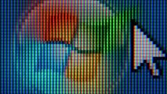 Windows operating, macro extreme close-up Stock Footage