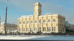 Leningradsky railway station Stock Footage