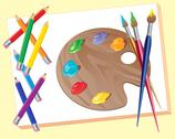 Artists materials Stock Illustration