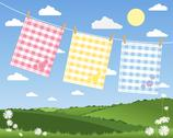 Stock Illustration of gingham tea towels