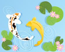 Koi carp Stock Illustration
