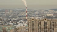 Panorama of a typical city (Ufa, Russia) Stock Footage