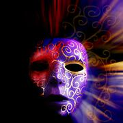 Painted mask background Stock Photos