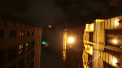 Driving Downtown Los Angeles buildings - Look up9 - stock footage