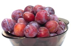 crop of plums. - stock photo