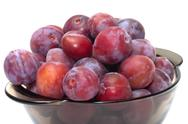 Stock Photo of crop of plums.