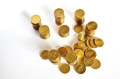 Golden coin savings Stock Photos