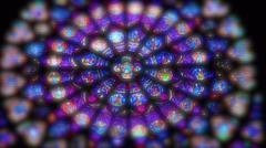 Stain glass rose window Stock Photos