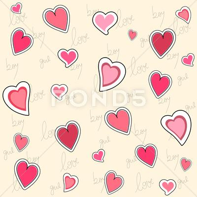 Stock Illustration of valentine seamless pattern