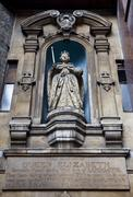Elizabeth I statue at St Dunstan-in-the-West Church - stock photo