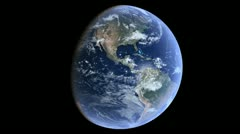 Earth Seamless Loop Rotation Ultra High Definition 4k Stock Footage
