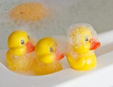 Rubber ducklings Stock Photos