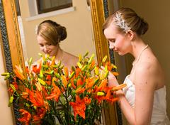 Stock Photo of bride and flowers