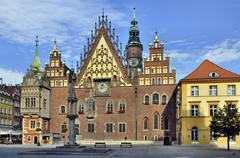 town hall in wroclaw, poland - stock photo