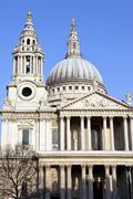 St. Paul's Cathedral in London. - stock photo