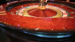 Close up of a roulette wheel Stock Footage