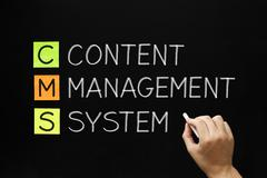 Content management system acronym Stock Photos