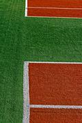 synthetic sports field 16 - stock photo