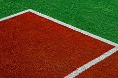 Synthetic sports field 15 - stock photo