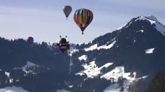Hot Air Balloons - stock footage