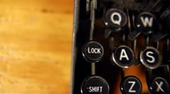 Typewriter Keys & Letters-Close Up - stock footage