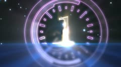 Numbers 1 to 10 - stock footage