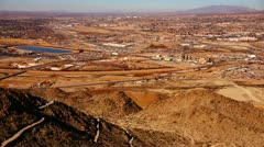 130121 aerial view of sunland park texas Stock Footage
