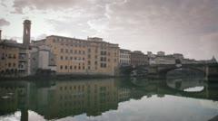 Florence - Bridge on Arno river 09 Stock Footage