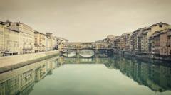 Florence - Bridge on Arno river 08 Stock Footage