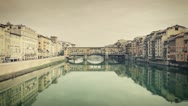 Stock Video Footage of Florence - Bridge on Arno river 08