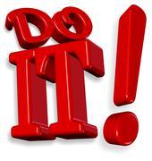 Do it ! - stock illustration