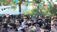 Stock Video Footage of Hypster crowd at music festival