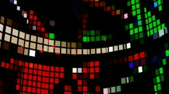 Led squares008 Stock Footage