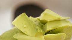 Avocado pieces loop - stock footage