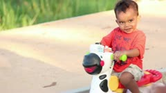 Baby on Bicycle Stock Footage