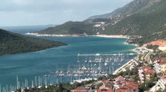 Kas marina panorama 3 Stock Footage