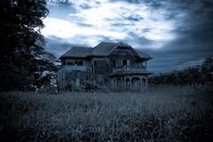 abandoned old house - stock photo
