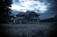 Stock Photo of abandoned old house