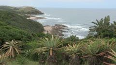 Wide of the Transkei Wild Coast. Stock Footage