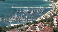 Stock Video Footage of Kas marina top view zoom out