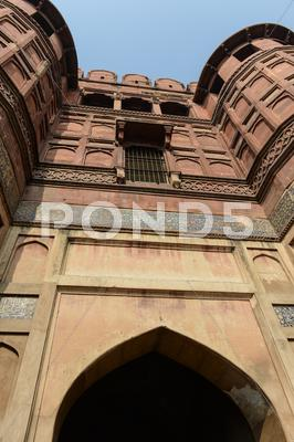 Stock photo of agra fort in india
