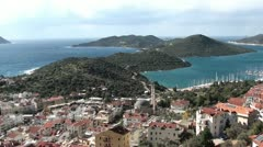 Kas peninsula panorama top view Stock Footage