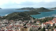 Stock Video Footage of Kas peninsula panorama top view
