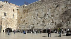 The Western Wall - stock footage
