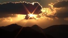 Sunset sunbeams Stock Footage
