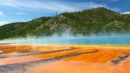 Stock Video Footage of Grand Prismatic Spring Yellowstone