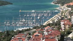 Top view on marina Stock Footage