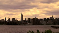 NY Empire State Bldg LS slow w/ Bird Stock Footage